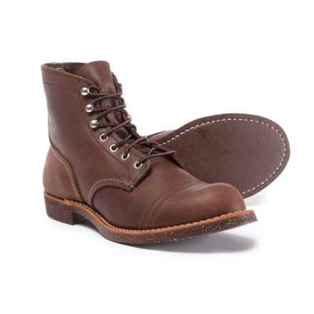 Red Wing Iron Ranger Cap-Toe Boots - Leather, Factory 2nds (For Men) in Amber