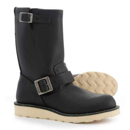 Red Wing Shoes 2979 Traction Tred Engineer Boots - Leather, Factory Seconds (For Men) in Black Chrome - 2nds