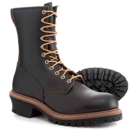 "Red Wing Shoes 9"" Logger Leather Work Boots -Steel Safety Toe, Factory 2nds (For Men) in Black Klondike - 2nds"