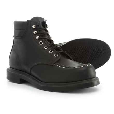 "Red Wing Shoes Classic 6"" Moc Boots - Leather, Factory 2nds (For Men) in Black - 2nds"