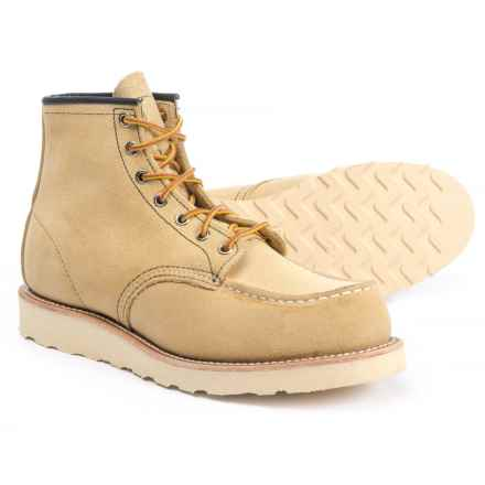 "Red Wing Shoes Classic 6"" Moc-Toe Work Boots - Leather, Factory 2nds (For Men) in Tan - Closeouts"