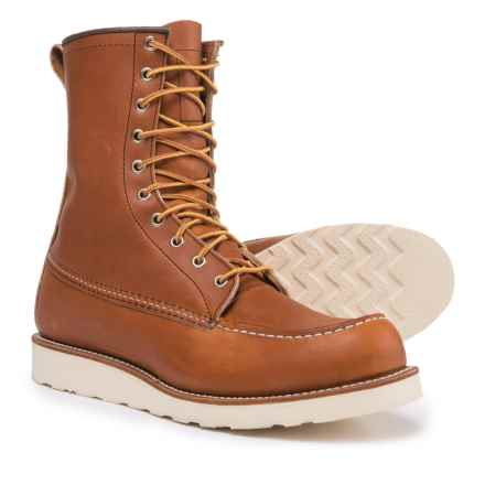 Red Wing Shoes Heritage 877 Classic Moc-Toe Boots - Leather, Factory 2nds (For Men) in Oro Legacy - 2nds