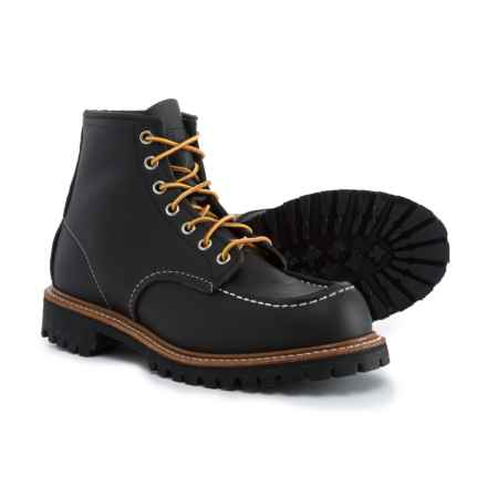 Red Wing Shoes Irish Setter Classic Moc-Toe Work Boots - Leather, Factory 2nds (For Men) in Black Skagway - 2nds