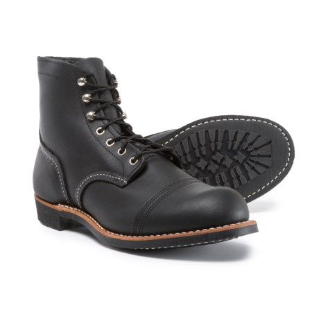 Red Wing Shoes Iron Ranger Cap-Toe Boots - Leather, Factory 2nds (For Men) in Black