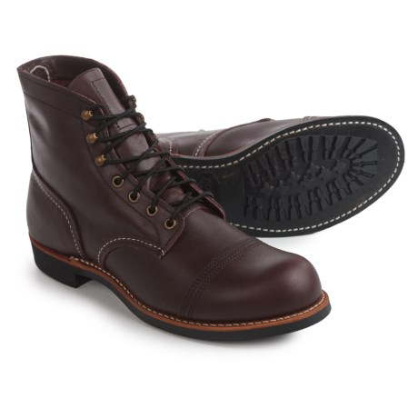 Red Wing Shoes Iron Ranger Cap-Toe Boots - Leather, Factory 2nds (For Men) in Oxblood Mesa