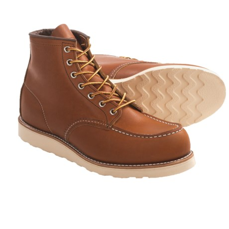Red Wing Shoes Moc-Toe Boots - Leather, Factory 2nds (For Men) in Oro Legacy