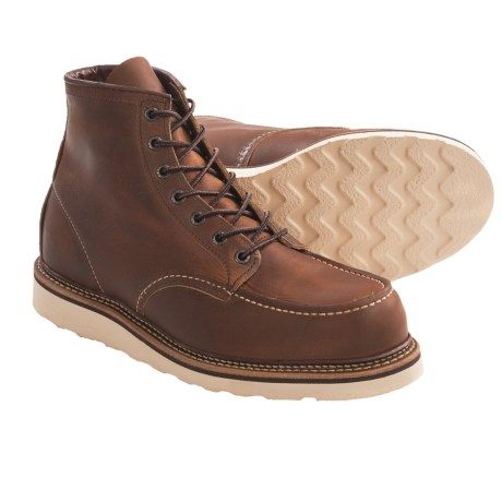"Red Wing Shoes Red Wing Heritage 1907 6"" Moc-Toe Boots - Leather, Factory 2nds (For Men) in Copper"