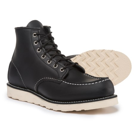 Red Wing Shoes Red Wing Heritage 8130 Classic Moc Boots - Leather, Factory Seconds (For Men) in Black