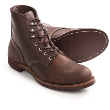 Red Wing Shoes Red Wing Heritage Iron Ranger Cap-Toe Boots - Leather, Factory 2nds (For Men) in Amber - 2nds