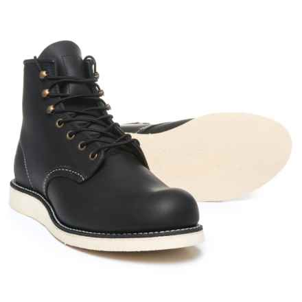 "Red Wing Shoes Rover 6"" Boots - Leather, Factory 2nds (For Men) in Black - 2nds"