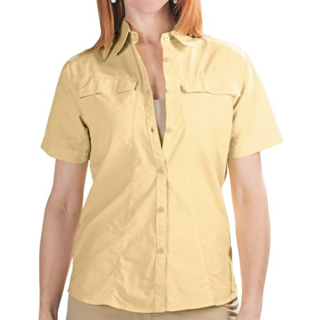 Redington Coastal Technical Guide Shirt - UPF 30+, Short Sleeve (For Women) in Hibiscus