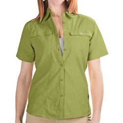 Redington Coastal Technical Guide Shirt - UPF 30+, Short Sleeve (For Women) in Turtle Green