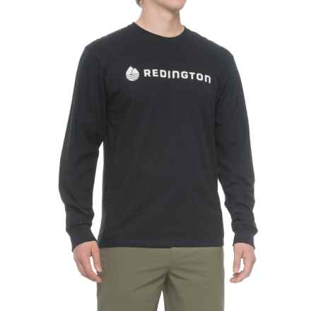 Redington Fly Fishing Logo T-Shirt - Long Sleeve (For Men) in Stealth Jet - Closeouts