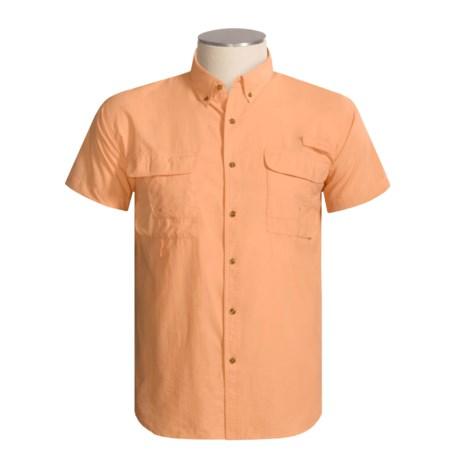Redington Gasparilla Dri-Block Fishing Shirt - UPF 30+, Short Sleeve (For Men) in Cantelope