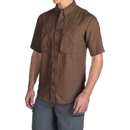 Redington Gasparilla Fishing Shirt - UPF 30+, Short Sleeve (For Men) in Barley - Closeouts