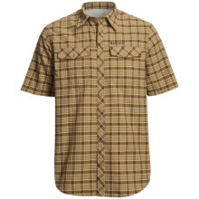 Redington Grizzly Plaid Shirt - UPF 50+, Short Sleeve (For Men) in Brown Ale Plaid - Closeouts