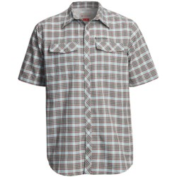 Redington Grizzly Plaid Shirt - UPF 50+, Short Sleeve (For Men) in Brown Ale Plaid