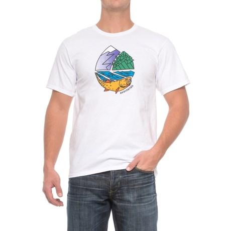 Redington Icon Logo T-Shirt - Crew Neck, Short Sleeve (For Men) in White