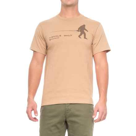 Redington Locals Only T-Shirt - Crew Neck, Short Sleeve (For Men) in Sand - Closeouts