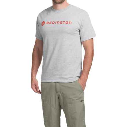 Redington Logo T-Shirt - Short Sleeve (For Men) in Dark Heather Grey - Closeouts