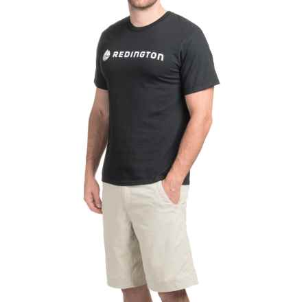 Redington Logo T-Shirt - Short Sleeve (For Men) in Stealth Jet - Closeouts