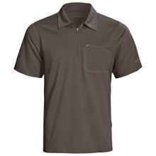 Redington Mazama Fishing Polo Shirt - UPF 30+, Zip Neck, Short Sleeve (For Men) in Basalt - Closeouts