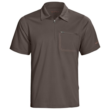 Redington Mazama Fishing Polo Shirt - UPF 30+, Zip Neck, Short Sleeve (For Men) in Basalt