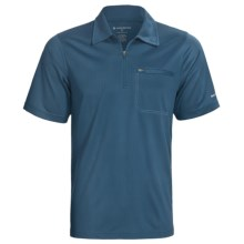 Redington Mazama Fishing Polo Shirt - UPF 30+, Zip Neck, Short Sleeve (For Men) in Indigo - Closeouts