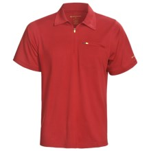 Redington Mazama Fishing Polo Shirt - UPF 30+, Zip Neck, Short Sleeve (For Men) in Red Snapper - Closeouts