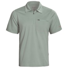 Redington Mazama Fishing Polo Shirt - UPF 30+, Zip Neck, Short Sleeve (For Men) in Seal - Closeouts