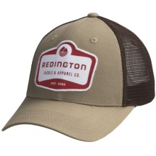 Redington Modern Logo Badge Trucker Hat (For Men) in Driftwood - Closeouts