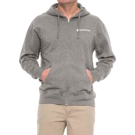 Redington Old School Hoodie - Full Zip (For Men) in Gunmetal Heather - Closeouts