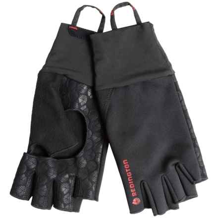 Redington Palm Free Fingerless Soft Shell Gloves (Men) in Black - Closeouts