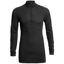 Redington RediLayer Base Layer Top - Merino Wool/Nylon, Neck Zip (For Men) in Black - Closeouts