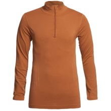 Redington RediLayer Base Layer Top - Zip Neck, Long Sleeve (For Men) in Rust - Closeouts