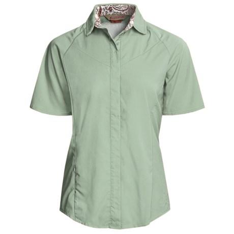 Redington Ruby Fishing Shirt - UPF 30, Short Sleeve (For Women) in Cedar