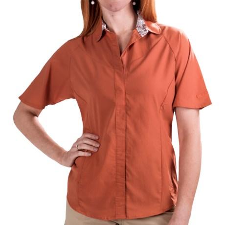 Redington Ruby Fishing Shirt - UPF 30, Short Sleeve (For Women) in Sunset