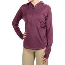 Redington Shasta Hoodie Sweatshirt - UPF 30, Zip Neck (For Women) in Mulberry - Closeouts