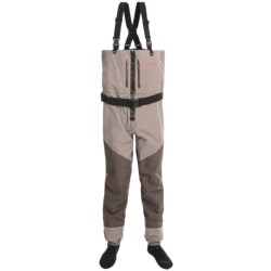 Redington Sonic Chest-High Waders - Stockingfoot, Front Zip (For Men) in Driftwood/Basalt