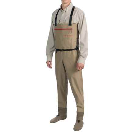 Redington Sonic-Pro Ultra Packable Waders - Stockingfoot (For Men) in Light Tan - Closeouts