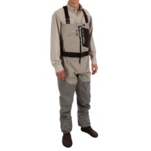 Redington SonicDry Fly Wader - Stockingfoot (For Men) in Grit/Titanium - Closeouts