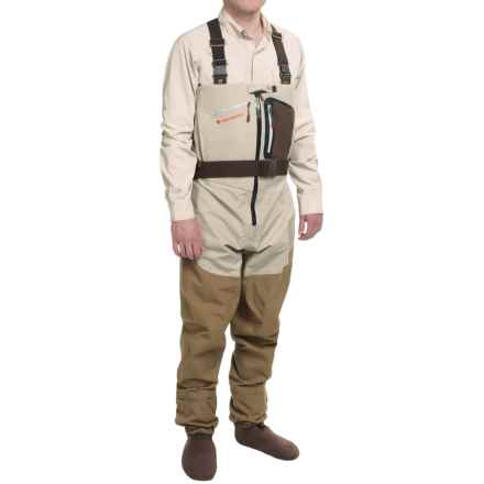 Redington SonicDry Fly Waders - Stockingfoot (For Men) in Grit/Tannin - Closeouts