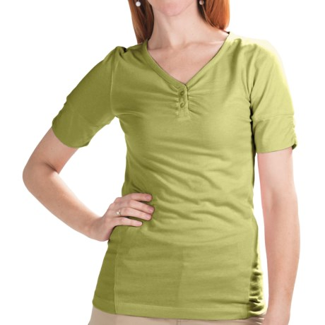 Redington Streamlet Shirt - UPF 30+, Short Sleeve (For Women) in Dune