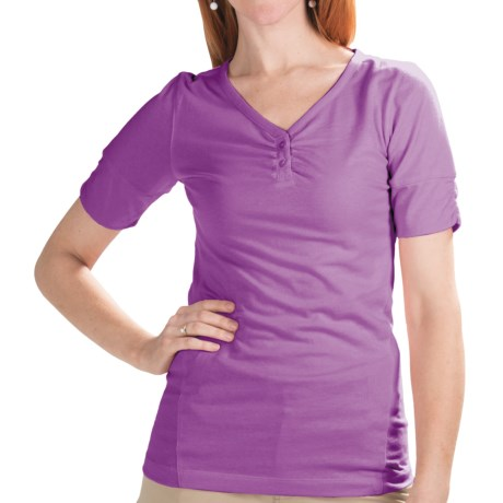 Redington Streamlet Shirt - UPF 30+, Short Sleeve (For Women) in Pink Sky