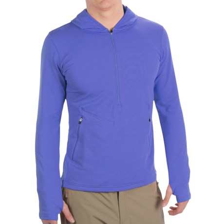 Redington Taylor River Hoodie Pullover - UPF 30+, Zip Neck, Long Sleeve (For Men) in Fire Coral
