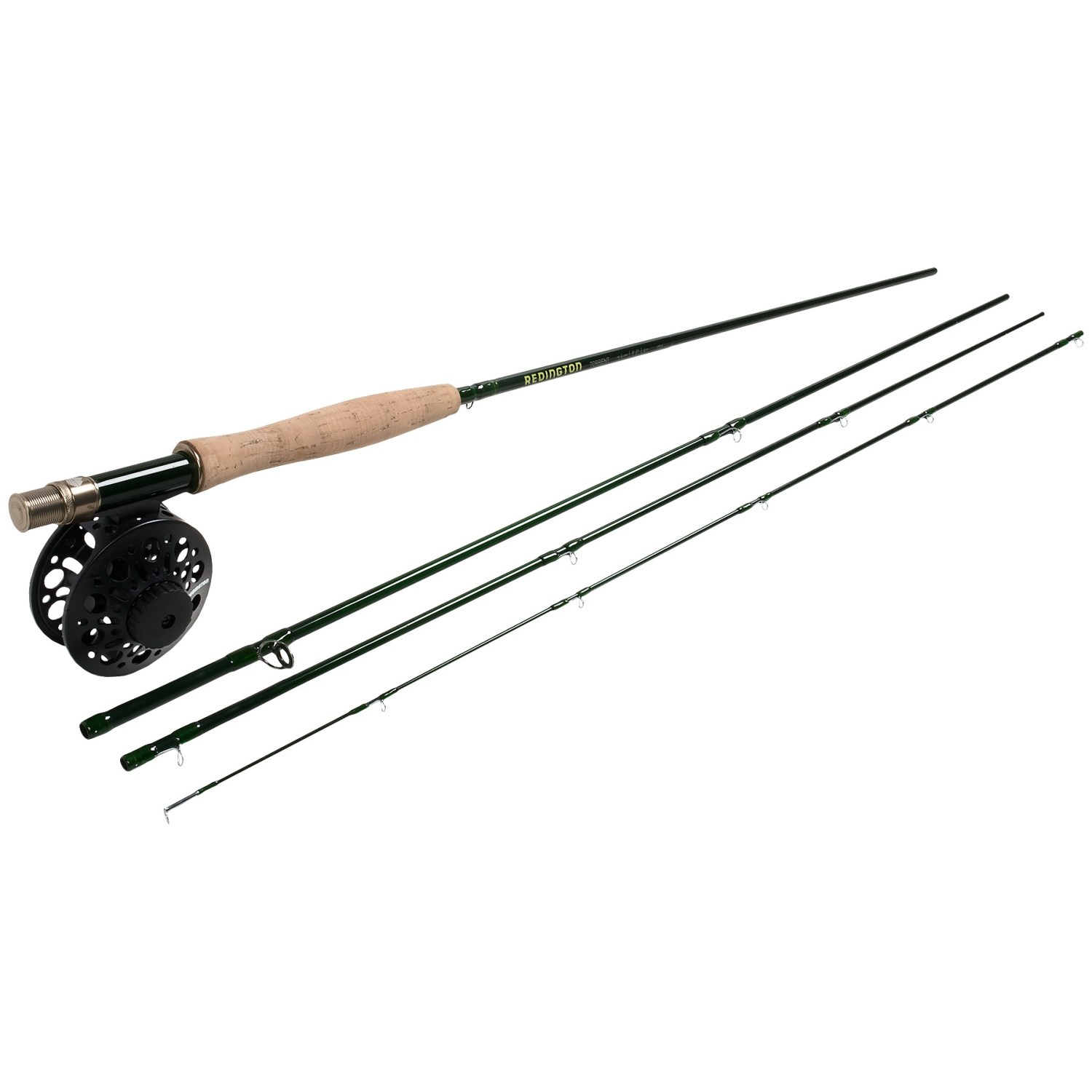 Redington torrent fly fishing combo 4 piece rod with for Fly fishing combo