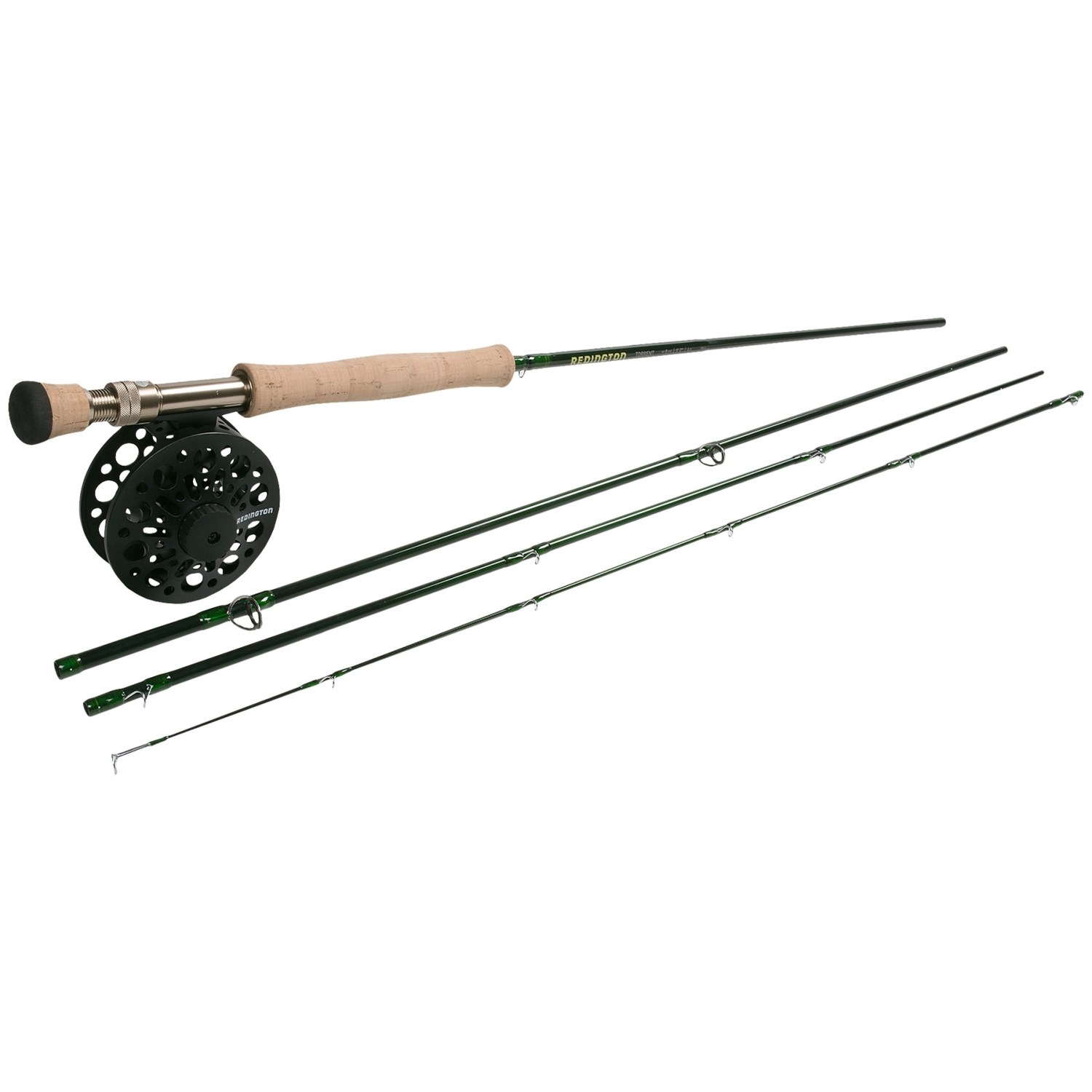 Redington torrent fly fishing combo 4 piece rod with for Fly fishing rod and reel combo