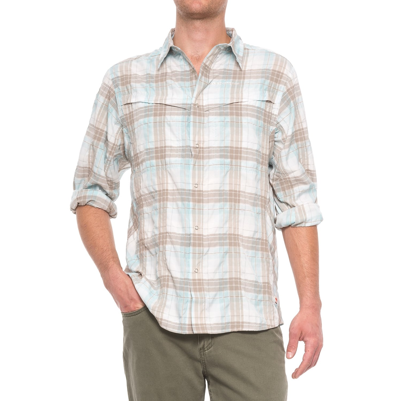 Redington wayward guide snap front shirt for men save 58 for Men s upf long sleeve shirt