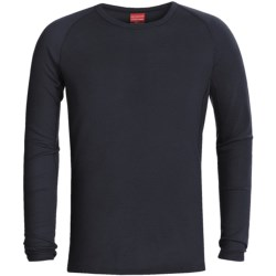 RedRam by Icebreaker Merino Wool Base Layer Top - Lightweight, Long Sleeve (For Men) in Navy