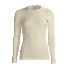 RedRam by Icebreaker Merino Wool Base Layer Top - Lightweight, Long Sleeve (For Women) in Snow - Closeouts